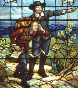 bunyan-meeting-evangelist-points-the-way-window
